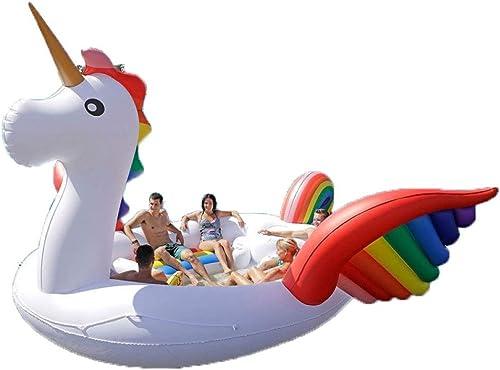 para proporcionarle una compra en línea agradable KFRSQ Piscina Piscina Piscina Hinchable,Isla Inflable Flamenco Monta En El Agua Adulto Adulto Unicornio Fila Flotante Gran Color Pegasus (4.8m)  A la venta con descuento del 70%.