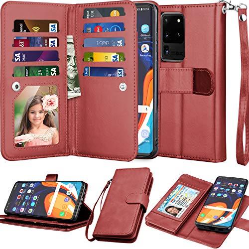 Njjex Galaxy S20 Ultra 5G Case, for Samsung Galaxy S20 Ultra Wallet Case (6.9