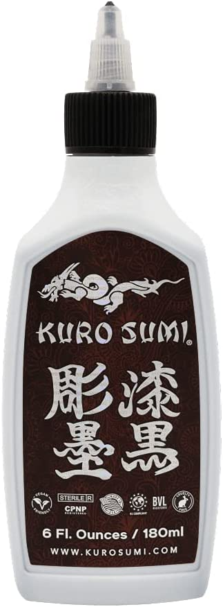 Kuro Sumi Japanese Tattoo Ranking TOP11 Online limited product Color Vegan Pigments Ink Professional