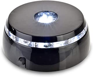 Santa Cruz Lights 4 LED Round White Light Stand Base for Crystals/Glass Art