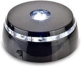 Santa Cruz Lights 4 LED Round White Light Stand Base for Crystals/Glass Art