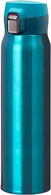 」Atlas(アトラス) 水筒 【Airlist】中栓が分解できる 超軽量 ワンタッチボトル 国内最軽量クラス スポーツドリンク対応 800ml グリーン AREW-800GR 汚れやニオイがつきにくい