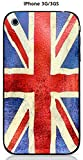 Coque Apple iPhone 3G / 3GS design Drapeau Grande Bretagne vintage effet Metallise