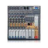 afyh mixer da studio, mixer compatto, mixer audio a 8 canali, consolle dj con alimentazione da 48 v usb bluetooth per sistema di mixer microfonico da palco di registrazione