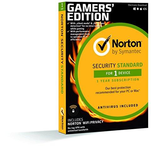 Norton Security Standard 2019 + Norton Wifi Privacy Gaming Edition 1 Gerät 1 Jahr PC/Mac/iOS/Android Download