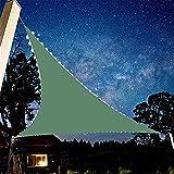 QXTT Vela de Sombra de Sol Triangular LED, Lona para Sombra de Patio con Luces Solares de Hadas, Triángulo de Sombra de Vela de Tela Oxford, para Sombra Exterior y Ambiente Cálido Regulable,3x4x5m