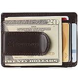 Alpine Swiss Dermot Mens RFID Safe Money Clip Minimalist Wallet Smooth Leather Comes in Gift Box Brown