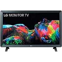 """LG 24TL520S-PZ - Monitor Smart TV de 61cm (24"""") con pantalla LED HD (1366x768, 16:9, DVB-T2/C/S2, WiFi, HbbTV 2.0, Miracast, USB grabador, 10W, 2xHDMI 1.4, 2xUSB 2.0, Auriculares, Óptica) Color Negro"""