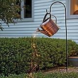 MBWLKJ Star Shower Garden Art Light Dekoration, Sterne Zeigen Led String Light, Gießkanne Art Night Light für Yard Garden,gartendeko groß für außen, Path Gartenskulpturen & Statuen,(mit Ständer)