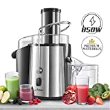 Twinzee - Centrifuge - Large Power 850 W - High Efficiency - Fruit and Vegetable Juice Extractor - 2 Speeds - Large Mouth (75 mm), Anti-Slip Feet, CE Certified