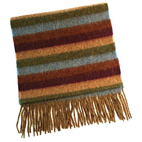 Damen Schal aus 100 % weicher Lammwolle, 30 x 150 cm Gr. One size, brauntöne