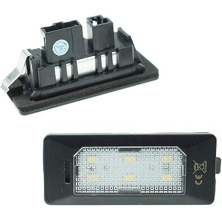 Do Led Led Kennzeichenbeleuchtung 6000k Xenon Weiß Für Ersatz Kennzeichen Lampe Plug Play 6 Smd Kennzeichen Beleuchtung 12v Dc 2 Stück Energieklasse A Auto