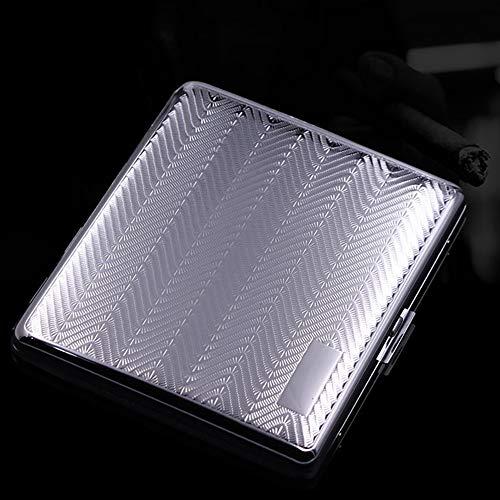 Portasigarette,Portatile Anti Pressione Impermeabile Scatola Di Tabacco,Acciaio Inossidabile Ultra Scatole per Sigarette-20 Sigarette