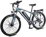 Bicicleta eléctrica Bicicleta eléctrica por la mon Adulto bicicleta de montaña eléctrica, 350W 26 '' bicicleta eléctrica de 36V 13Ah con extraíble de iones de litio for los adultos, 27 velocidad Shift