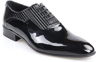 Tek Yıldız 1952 Erkek Hakiki Deri Siyah Klasik Rugan Ayakkabı