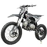 X-PRO 125cc Dirt Bike Pit Bike Adults Dirt Pit Bike 125 Dirt Bike Dirt Pitbike,Big 17'/14' Tires! Cradle Type Steel Tube Frame! (Black)