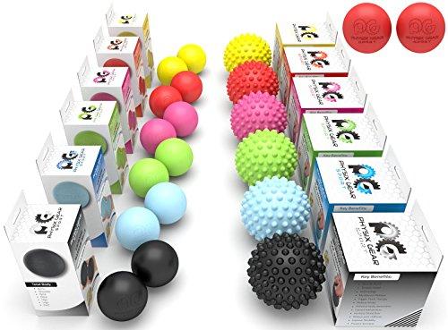 Physix Gear Sport Lacrosse Ball Set of 2 - Best Deep Tissue Massage...