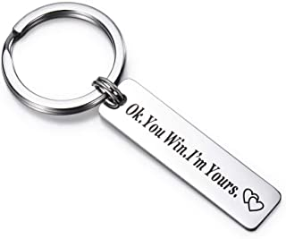 OFGOT7 I Love You Most The End I Win Keychain Valentines Day Boyfriend Girlfriend Gift,A Romantic Unique Gift to Express Your Love