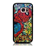 Galaxy S7 Case, Spider Man Comic Collage Print Cover Soft TPU & Hard Back Shock Drop Proof Impact Resist Protective Case for Samsung Galaxy S7