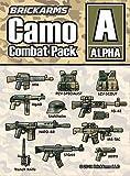 BrickArms Camo Combat Pack Alpha - Juego de armas, compatible con figuras Lego®