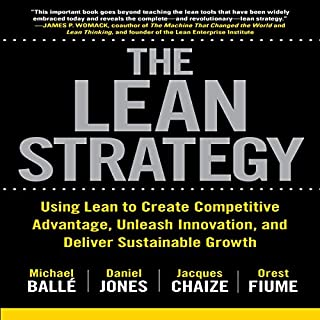 The Lean Strategy                   By:                                                                                                                                 Daniel Jones,                                                                                        Jacques Chaize,                                                                                        Michael Ballé,                   and others                          Narrated by:                                                                                                                                 Scott R. Pollak                      Length: 9 hrs and 56 mins     2 ratings     Overall 5.0