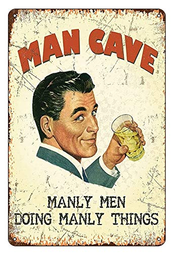 Boggevi Kells Man Cave Manly Men Doing Manly Things small steel sign - Tin...