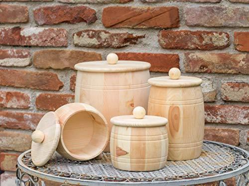 Vorratsdose aus Zirbenholz mit Holzdeckel, Größe XL, 2000ml Füllmenge für Getreide, Mehl, Reis, Nudeln, Kartoffel uvm. Handgefertigt in Österreich