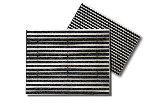 SWmat Fußabtreter für innen und außen | hochwertiges Aluminium | Fußmatte mit hoher Reinigungswirkung |80 x 100 cm| Sauberlaufmatte | Eingangsmatte mit Alu Einbaurahmen | Türmatte Einbau |Anthrazit |