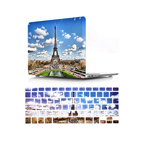 HD Pattern Laptop Hard Case for MacBook Air Pro Retina 12 13 15 16 15.4 13.3 inch with Keyboard Cover for Air A1466 A1932 2018-Pattern C-New Air 13 A1932