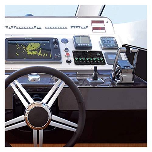 LIANGJIN 4/8 Gang Gang Toggle Panel de interruptores 12V Ajuste para la embarcación de automóviles Dual USB Puerto de carga Encendedor de cigarrillos Voltímetro de voltímetro Coche Panel de interrupto
