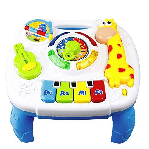 Mesa de aprendizaje musical para bebés Toddles, de 6 a 12 meses up-Early Education Centro de actividades musicales Centro de juegos Mesa con sonidos de animales