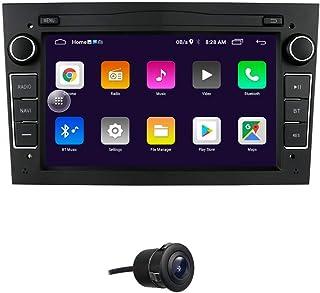 Android 10 Auto GPS Navigation Fit für OPEL Antara/Astra/Combo/Corsa C/Corsa D Unterstützung Lenkradsteuerung Bluetooth Spiegelverbindung FM Radio (Schwarz)