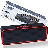 Altavoz portátil Bluetooth 5.0 TUATECH, 12 vatios, Altavoz Bluetooth con micrófono, USB, Tarjeta TF, AUX, Radio, alimentación estéreo. Altavoz para Smartphone, Dura 9 Horas, Batería 1200mah, Rojo
