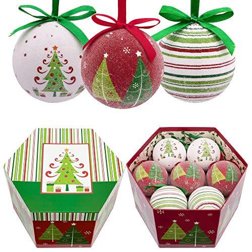 Valery Madelyn kerstballen papier 14-delig. 7 cm kerstballen voor kerstboomversiering