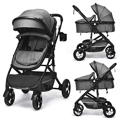 INFANS Baby Stroller for Newborn, 2 in 1 High Landscape Convertible...