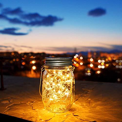 30 LED Solarlampen für Außen,Solarglas Einmachglas,Solarleuchte Tisch,Solarlicht Garten,Solarlicht fuer Dekoration Garten (4 Stück)