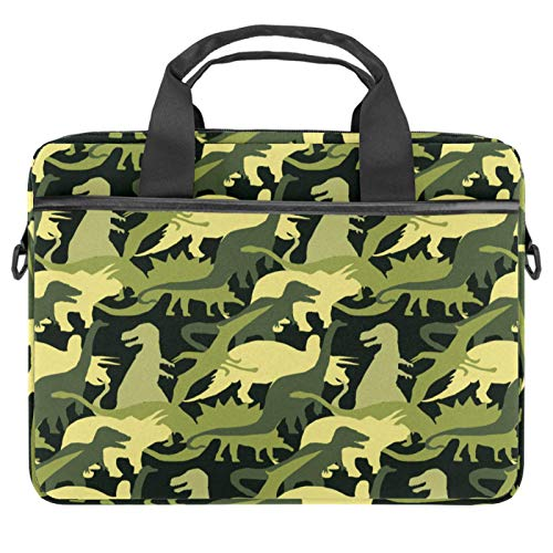 Laptop Bag Camouflage Dinosaur Notebook Sleeve with Handle 13.4-14.5 inches Carrying Shoulder Bag Briefcase