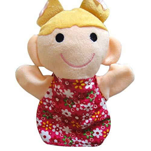YeahiBaby Marionetas de Mano Felpa Suave Chica Linda Marionetas Familiares para Niños Bebés Niños Pequeños Juego Imaginativo Narración Enseñanza Preescolar Juego de Roles 25 cm