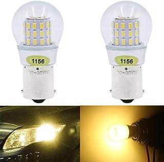 2-Pack 1156 BA15S 7506 1141 1003 1073 P21W Blanco Cálido LED Luz 10-30V-DC, AMAZENAR AK-3014 39 SMD Reemplazo para Luces de Estacionamiento Iluminación interior Luces Traseras luces de antiniebla