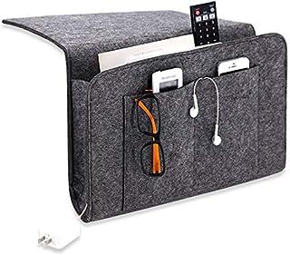 """Unify Home Bedside Organizer Caddy - 9.25"""" x 14.75"""" - Sturdy Felt - Tablet, Laptop, Phone, Remote Control Organizer - Perf..."""