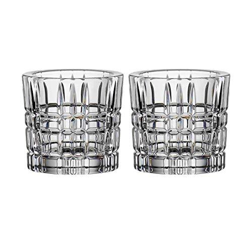 Nachtmann Square Teelichthalter, Teelicht Halter, Votivlicht, Kerzenhalter, Kristallglas, 6.6 cm (2X Klar)