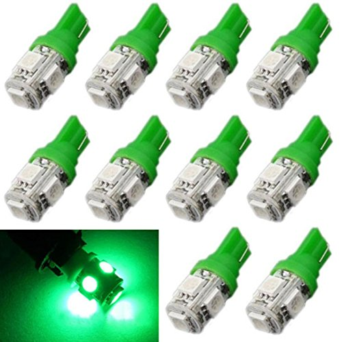 10 bombillas LED de xenón T10 con base 5 SMD 5050