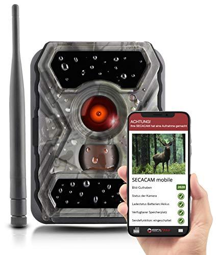 SECACAM Raptor Mobile - 3G Wildkamera mit SIM-Karte sendefähig (GPRS, GSM, UMTS / 3G) mit Handy-Übertragung & App (Normalwinkel 52°)