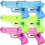TE-Trend 6 Stück Wasserpistolen Spritzpistolen Set 13 cm Kindergeburtstag Party