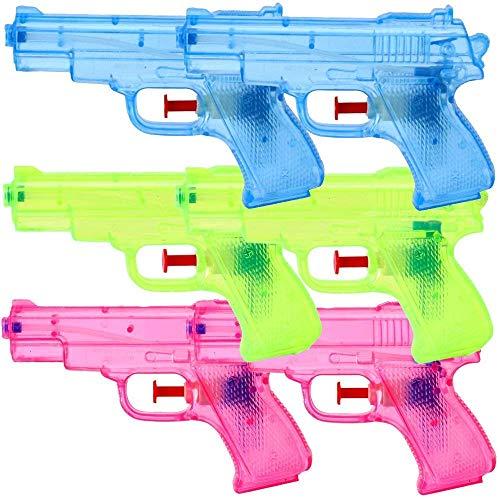 6 Pezzi Pistole d'acqua Pistole a spruzzo Set 13 cm Festa Di Compleanno Bambini Regalo