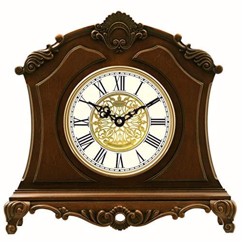 Mantel Clock - Reloj de Madera Europea Retro - Premier muda Piedra carillón salón Dormitorio decoración for el hogar (Size : 118 * 342 * 328mm)