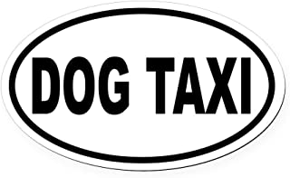 CafePress Dog Taxi Oval Car Magnet, Euro Oval Magnetic Bumper Sticker