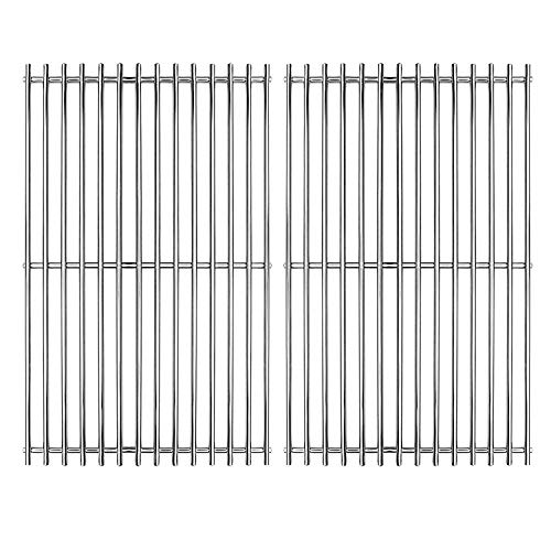 Hongso 17  SUS 304 Stainless Steel Cooking Grates Replacement for Charbroil 463250509, 463250510, 720-0341, 720-0549, 720-0670A, 720-0670C, 720-0697E, Home Depot Nexgrill 720-0830H, SCA022, Set of 2