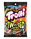 Trolli Twisted Sour Brite Crawlers Gummy Worms, 6 Ounce, Pack of 8