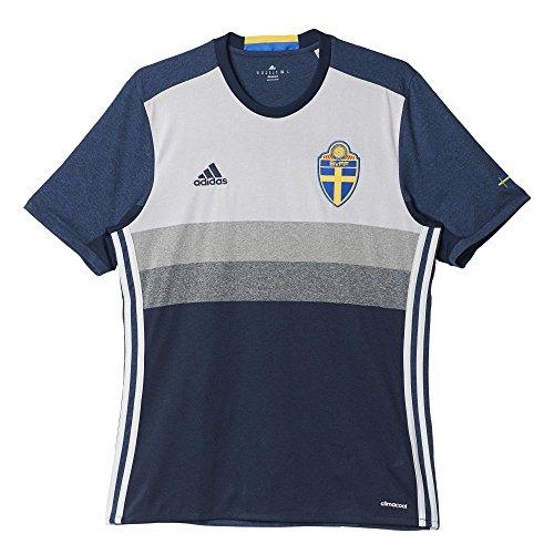 adidas Herren UEFA EURO 2016 Schweden Auswärtstrikot Replica T-shirt, Blau/Weiß/Grau, L